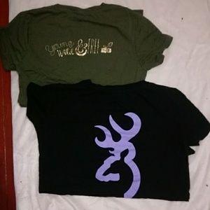 Tops - T shirt lot.  Browning and Real Tree.